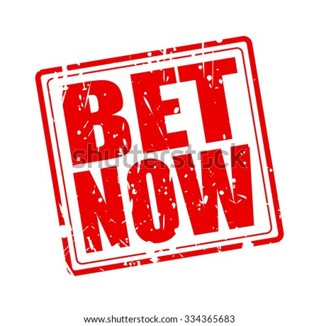 Bet now red stamp text on white - stock vector