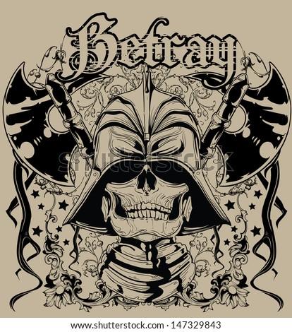 Betray - stock vector