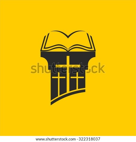 Bible on the pulpit - stock vector