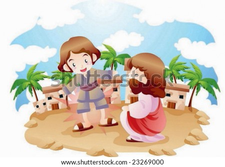 Bible Story - stock vector