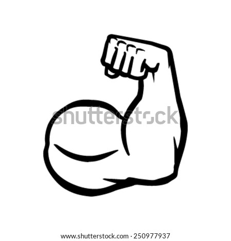Biceps Flex Arm Vector Icon - stock vector