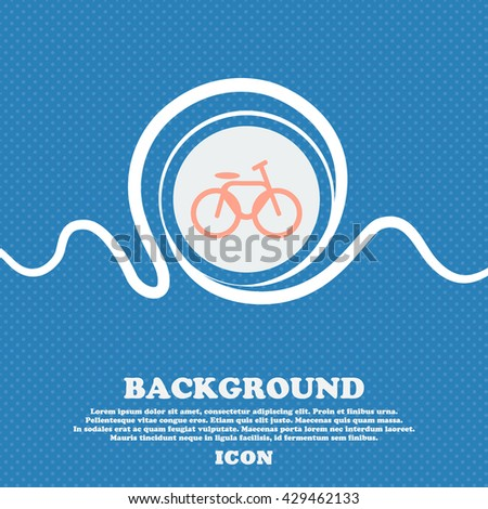Bicycle, bike sign. Blue and white abstract background flecked with space for text and your design. Vector illustration - stock vector