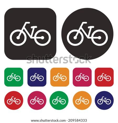 Bicycle icon / Bike icon / amusement ride icon - stock vector