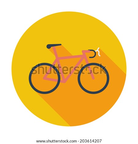 Bicycle icon. Single flat color icon. Vector illustration. - stock vector