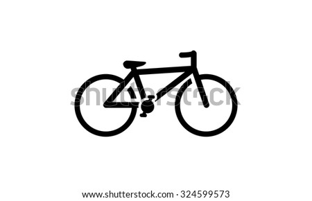 Bicycle - Logo, Silhouette, Object - Isolated Illustration - stock vector