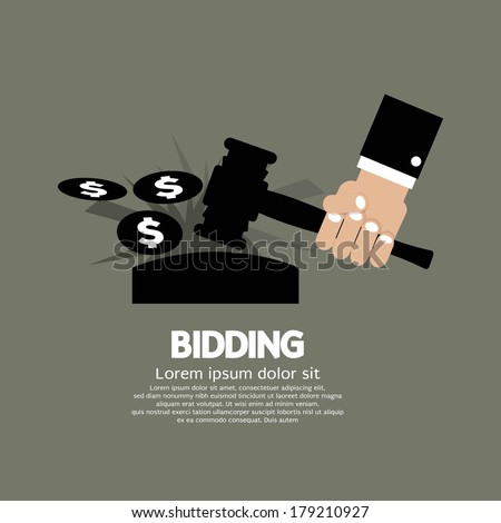 Bidding or Auction Concept Vector Illustration - stock vector