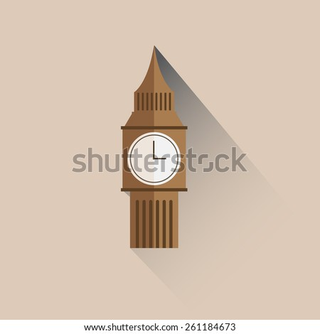 Big Ben icon - stock vector
