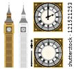 Big Ben in Vector Art - stock vector