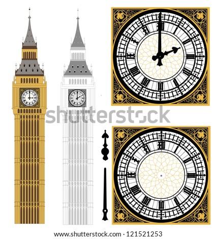 Big Ben in Vector Art - stock vector