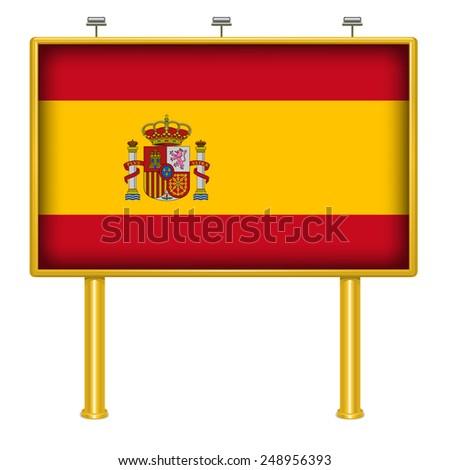 Big Billboard Spain flag - stock vector