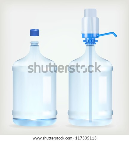 Big bottle of water for delivery - stock vector