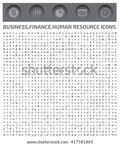 Big business icons,finance,human resource icons,vector - stock vector