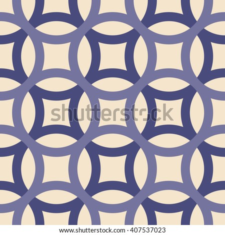 Big circles crossed seamless pattern violet - stock vector