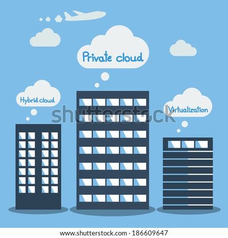Big Data, Cloud computing concept - stock vector