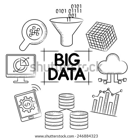 big data concept - stock vector