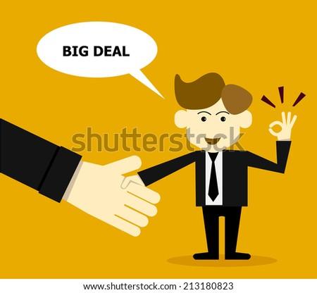 Big deal concept - stock vector