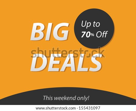 Big deals - stock vector