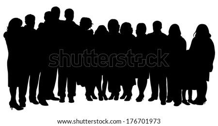 big family portrait - stock vector