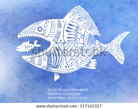 Big fish eating little fish stock photos images for Big fish little fish