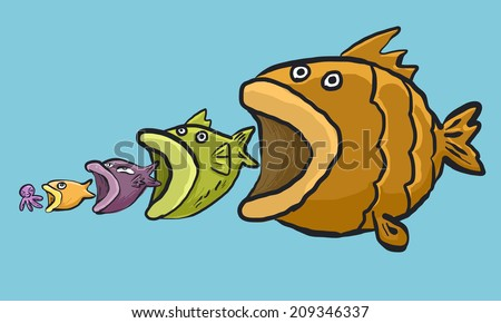 Big Fish Eating Little Fish Stock Photos Images
