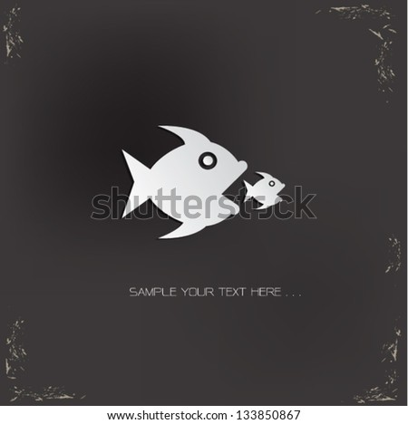Big fish sign,vector - stock vector