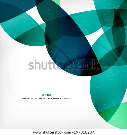 Big geometric shapes corporate business template. Flowing colorful round shapes, textured abstract background - stock vector