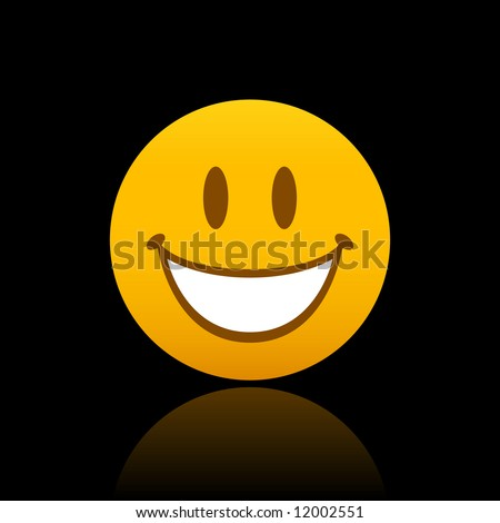 Big Happy Face - stock vector