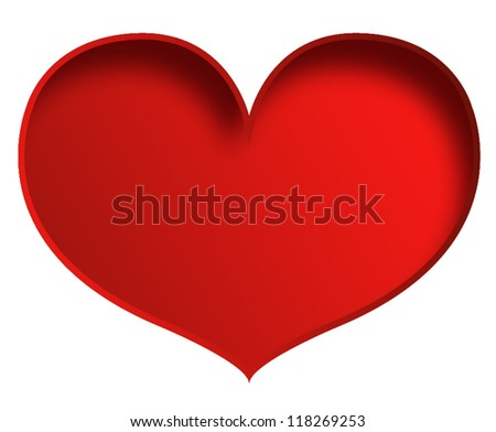 Big heart isolated on white - stock vector