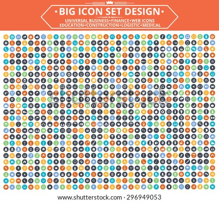 Big Icon set design,Universal,Website icon,Construction,Business,Finance,Medical icons,clean vector - stock vector