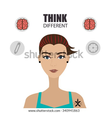 Big ideas from young minds cartoon graphic design, vector illustration. - stock vector