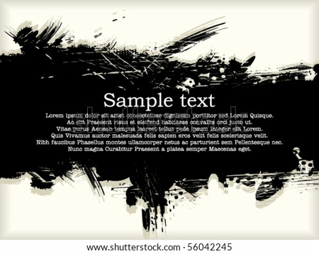 Big inky patch - stock vector
