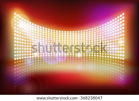 Big led screen. Vector illustration. - stock vector