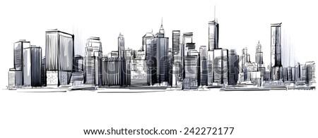 Big Manhattan - stock vector