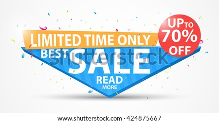 Big Sale Banner and Best Offer  - stock vector