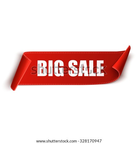 Big Sale Banner. Ribbon. Vector Illustration - stock vector