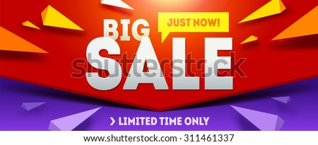 Big sale banner. Sale and discounts. Vector illustration - stock vector
