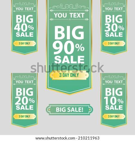 Big Sale Best offer badge, sticker, label or tag. - stock vector