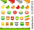 Big Sale Label Set, Isolated On White Background, Vector Illustration - stock vector