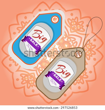 Big Sale Percentage Discount Flyer Vector Illustration. Percentage Discount. Market Shop Goods Sale Banner. - stock vector
