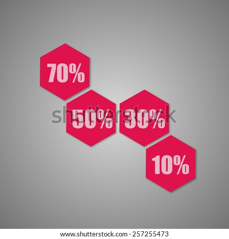 Big Sale tags with Sale up to 50 - 70 percent text - stock vector