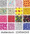 Big set of seamless patterns - stock vector