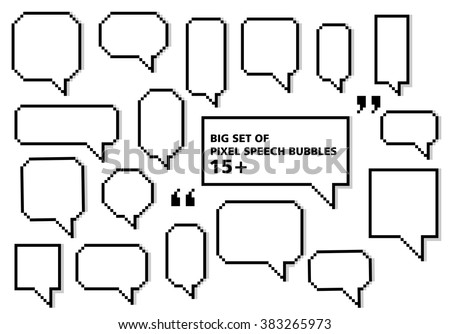 Big set of speech bubbles, vector - stock vector