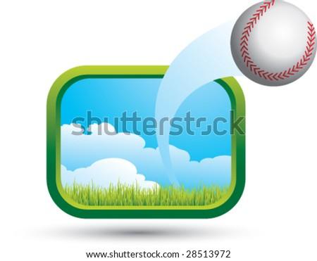 big shot baseball - stock vector