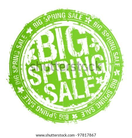 Big spring sale rubber stamp. - stock vector
