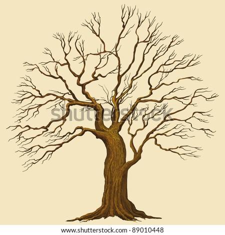 Big tree vector illustration - stock vector