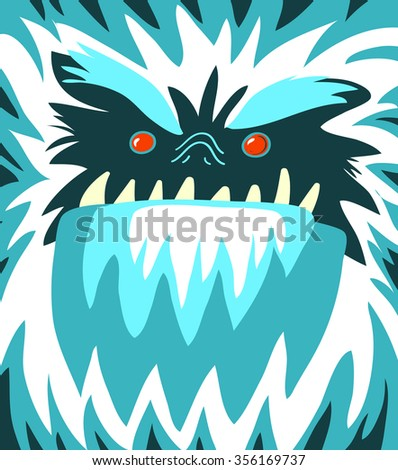 Bigfoot face - stock vector