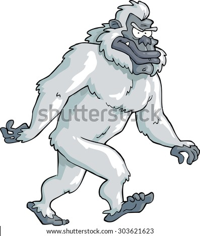 Bigfoot on a white background vector illustration - stock vector