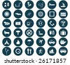 Biggest collection of different travel icons for using in web design - stock vector