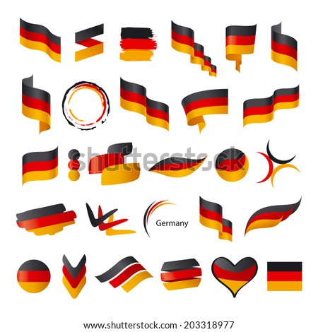 biggest collection of vector flag of Germany  - stock vector