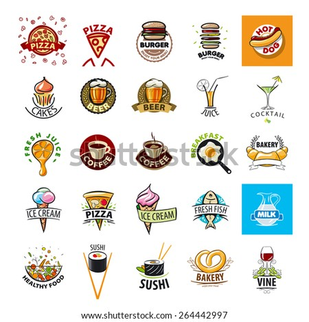 biggest collection of vector logos Food - stock vector